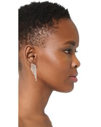 Kenneth Jay Lane - Metallic Round Cz Pave Fringe Ear Crawlers - Lyst