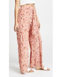 Faithfull The Brand - Pink Tiki Tiki Pants - Lyst