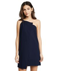 Michelle Mason - Blue One Shoulder Shift Dress - Lyst