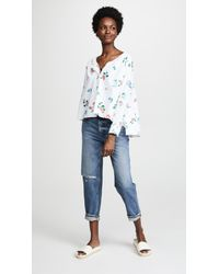 The Great - Blue The Boutonniere Top - Lyst