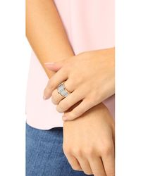 Walters Faith - Metallic Clive Large Fluted Band Ring - Lyst