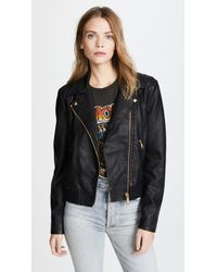 Free People - Black Modern Faux Bomber Jacket - Lyst