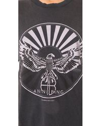 Anine Bing - Black Sunburst Tee - Lyst