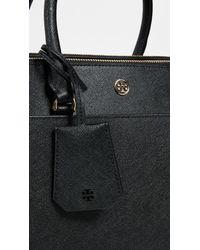 Tory Burch - Black Robinson Double Zip Tote Bag - Lyst