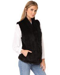 June - Black Classic Shawl Vest - Lyst