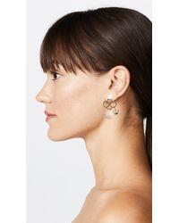 Marni - Metallic Metal Horn Strass Earrings - Lyst