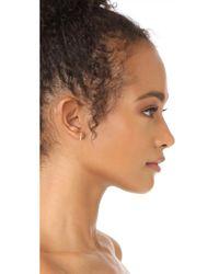 EF Collection - Metallic 14k Gold Diamond Bar Ear Studs - Lyst