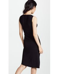 Norma Kamali Black Sleeveless Drape Dress