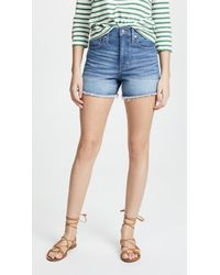 Madewell - Blue The Perfect Jean Shorts - Lyst