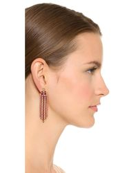 Rebecca Minkoff - Multicolor Baguette Stone Fringe Earrings - Lyst