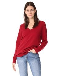 Equipment - Red Asher V Neck Sweater - Lyst