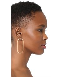 Shashi - Metallic Oblong Hoop Earrings - Lyst