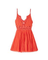 Free People - Red Ilektra Mini Dress - Lyst