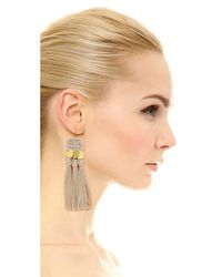 Shashi - Metallic River Earrings - Lyst