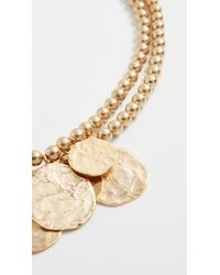 Kenneth Jay Lane - Metallic Coin Necklace - Lyst