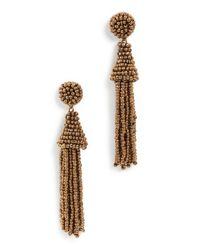 Deepa Gurnani - Metallic Deepa By Rose Earrings - Lyst