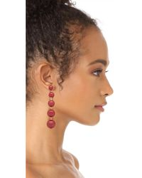 Kate Spade - Red Precious Poppies Bauble Drop Earrings - Lyst