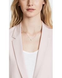 Shashi - White Solitaire Necklace - Lyst