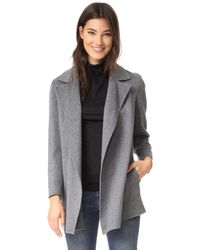 Theory - Gray Clairene Wool Coat - Lyst