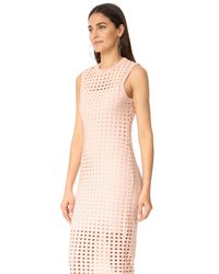 T By Alexander Wang - Pink Fitted Tank Dress - Lyst