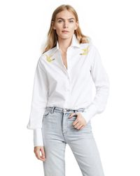 TOME - White Eco Classic Shirt With Swarovski Crystals - Lyst