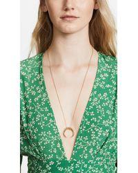 Gorjana | Metallic Cayne Crescent Pendant Necklace | Lyst