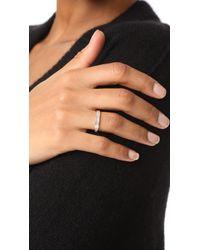 EF Collection - Multicolor 14k Half Diamond Baguette Stack Ring - Lyst