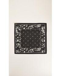 Rag & Bone - Black Garden Floral Bandana - Lyst