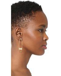 Rebecca Minkoff - Metallic Runway Pin Earrings - Lyst