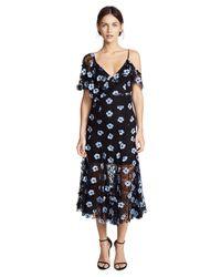 La Maison Talulah - Blue Crave You Asymmetrical Midi Dress - Lyst
