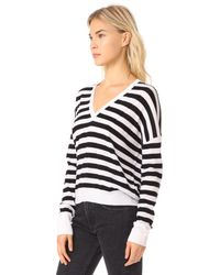 Rag & Bone - Black Bevan V Neck Sweater - Lyst