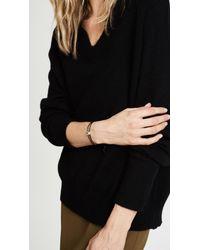 Gorjana - Black Newport Leather Bracelet - Lyst