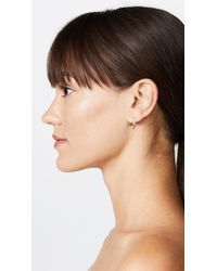 Jacquie Aiche - Metallic Crescent Drop Earring - Lyst