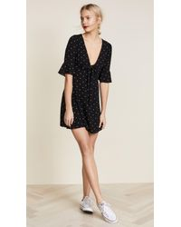 Free People - Black All Yours Mini Dress - Lyst