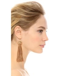 Vanessa Mooney - Brown The Astrid Knotted Tassel Earrings - Lyst