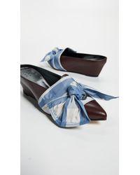 Trademark - Blue Adrien Tie Slides - Lyst