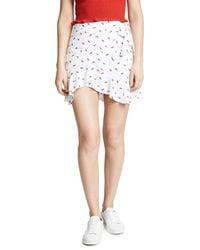 Bec & Bridge - White Cherry Pie Skirt - Lyst