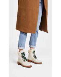 Frye | White Samantha Hiker Boots | Lyst