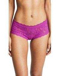 Hanky Panky - Purple Signature Lace Boy Shorts - Lyst