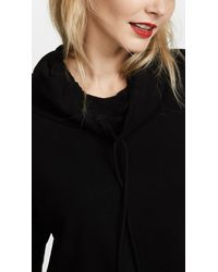 Lanston - Black Funnel Neck Crop Pullover - Lyst