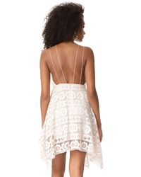 Free People - White Just Like Honey Lace Dress - Lyst