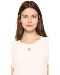 Aurelie Bidermann - Metallic Clover Necklace - Lyst