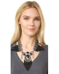 Adia Kibur - Black Brittany Statement Necklace - Lyst