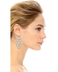 Alexis Bittar - Metallic Crystal Spiked Lattice Earrings - Lyst