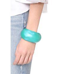 Alexis Bittar - Blue Domed Liquid Silk Cuff Bracelet - Lyst