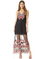 Alice + Olivia | Black Paisley-print Party Dress | Lyst