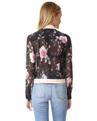 Alice + Olivia - Brown Amalia Cropped Pintuck Button Down - Lyst