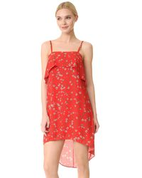 Alice + Olivia   Red Reese High Low Tank Dress   Lyst