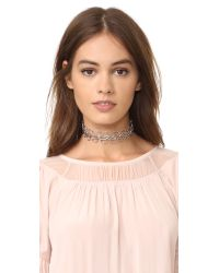 Amber Sceats - Metallic Bella Choker Necklace - Lyst