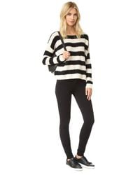 ATM Black Striped Wool-blend Sweater